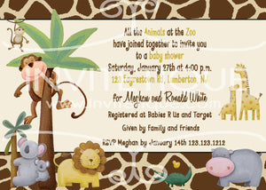 Safari Baby Shower Invitations - Invitetique