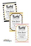 Bridal Shower Stripes Digital Invitations - Invitetique