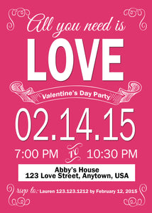 San Valentine's LOVE Digital Invitations - Invitetique