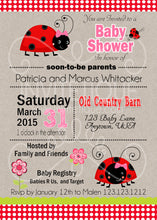 Ladybug Baby Shower Invitation