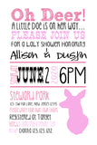Little Doe Baby Shower Invitations - Invitetique
