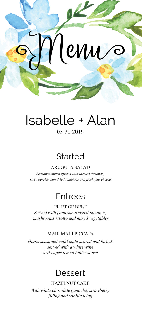 Lovely Summer day Menu Card -089 - Invitetique