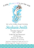 Mermaid Baby Shower Invitation - Invitetique
