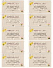 Bumble BEE Mommy to Be Diaper Raffle Tickets
