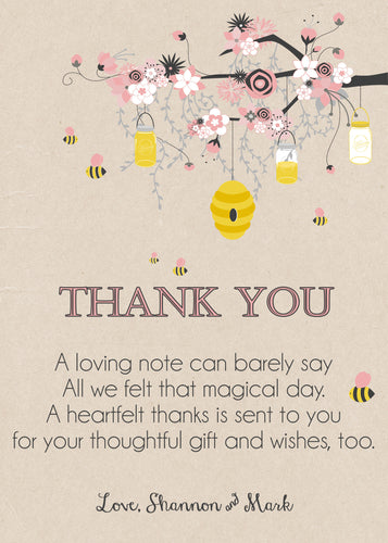 Bumble Bee Personalized Thank You notes