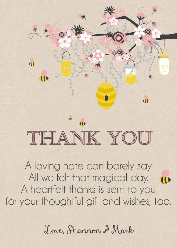 Bumble BEE Baby Shower Thank You Cards - Invitetique