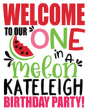 One in a melon summer poster