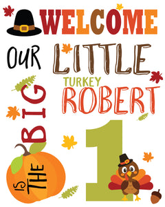 Turkey birthday sign
