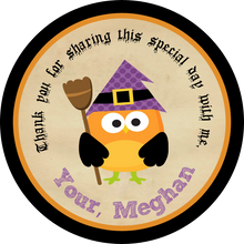 Witch Owl Circle Favor Tags