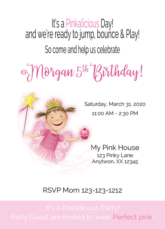 Pinkalicious Birthday Invitations - P101 - Invitetique