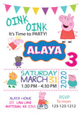 Peppa Pig Birthday Invitations - Invitetique