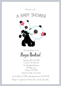 Mommy-to-be Panda Baby Shower Invitations - Invitetique