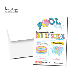 Pool Party End of Summer Invitations - Invitetique