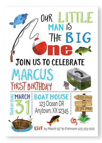 gone fishing birthday invitations