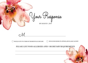 Ellis Floral RSVP Card - Invitetique