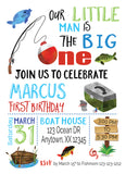 the big one birthday kids birthday party, birthday invitations, digital birthday invitations