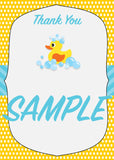 Rubber Ducky Baby Shower Thank you notes - Invitetique