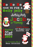 Santa Birthday Christmas Invites - Invitetique