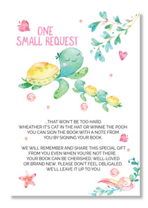 Sea Turtle twin Book request cards - Invitetique