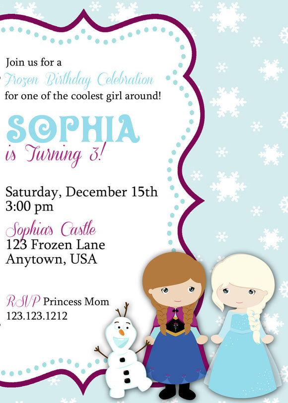 Snow Princess Birthday Invitations - Invitetique