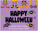 halloween party yard banner