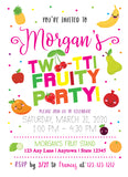 Two-tti Frutti Birthday Party Digital Invitation - Invitetique