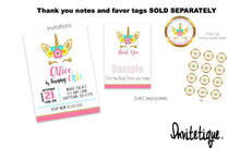 Pink and Gold Unicorn Birthday Package Sampler