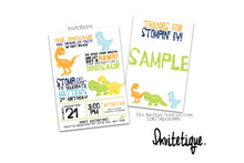Dinosaur Birthday Invitation, Dinosaur Invitation, Reptile Birthday Invitation, Stom Chomp Growl Roar