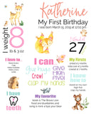 woodland watercolor birthday poster