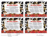 Western Baby Book Request Cards Insert