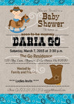 Cowboy Western Baby Shower Invitations - Invitetique