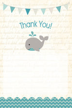 Teal Whale fill in Thank You notes