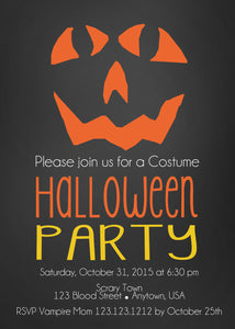 Wicked Pumpkin Halloween Invitations - Invitetique