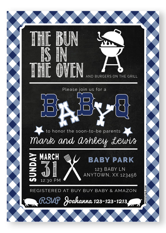 BABY Q Baby Shower Invitation - Blue