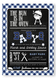 BABY Q Baby Shower Invitation - Blue - Invitetique
