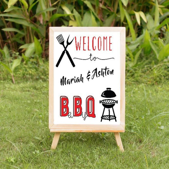 baby q baby shower welcome sign