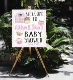 girl baby shower welcome sign