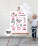 pink barnyard themed party decoration