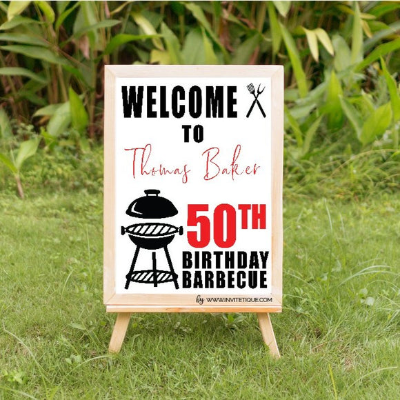 Barbecue 50th birthday party decoration