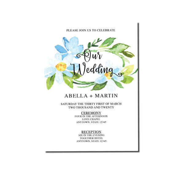 Lovely Summer Day Wedding Invitation -  089 - Invitetique