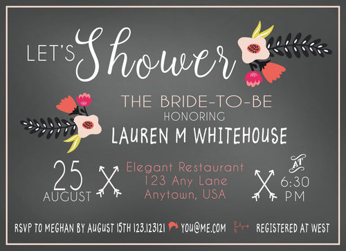 Boho Bridal Shower personalized  Invitation