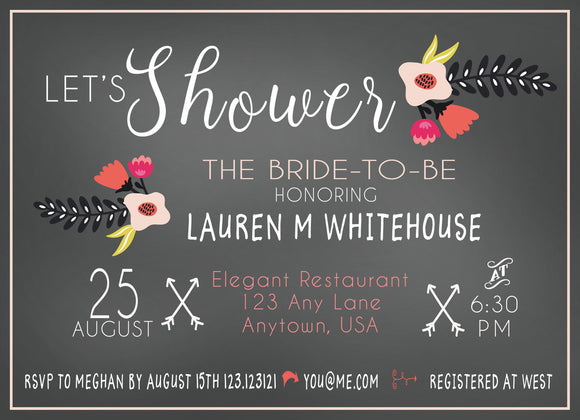 Boho Bridal Shower Invitation - Invitetique