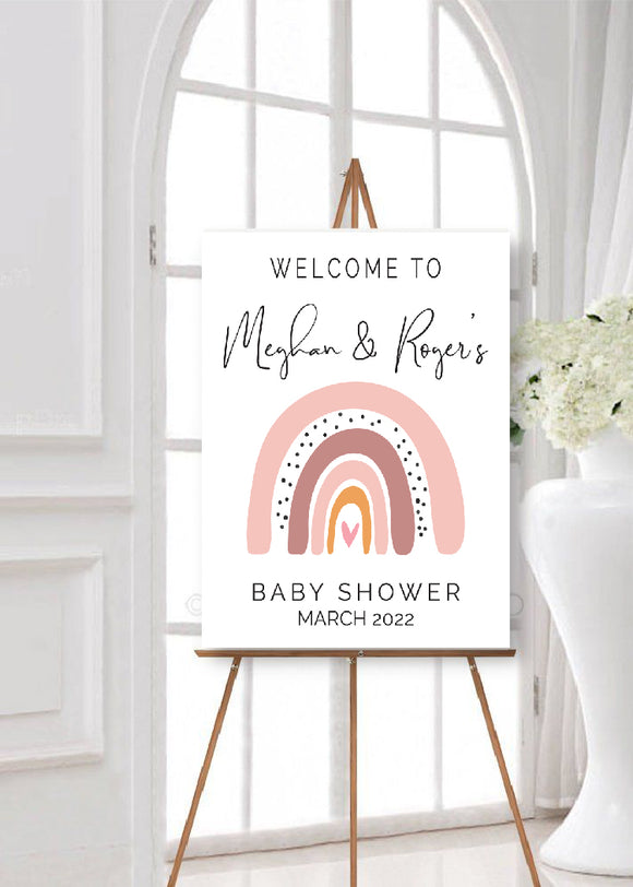 boho rainbow welcome poster digital