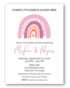 bohoo pink rainbow baby shower