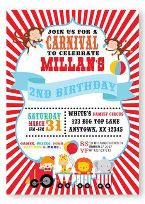 Carnival Theme Party Invitations - Invitetique