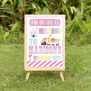 pastel. carnival  welcome poster
