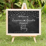 Chalk and Hearts Engagement Welcome Party Sign - Invitetique