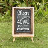 Cheers and beers welcome signage