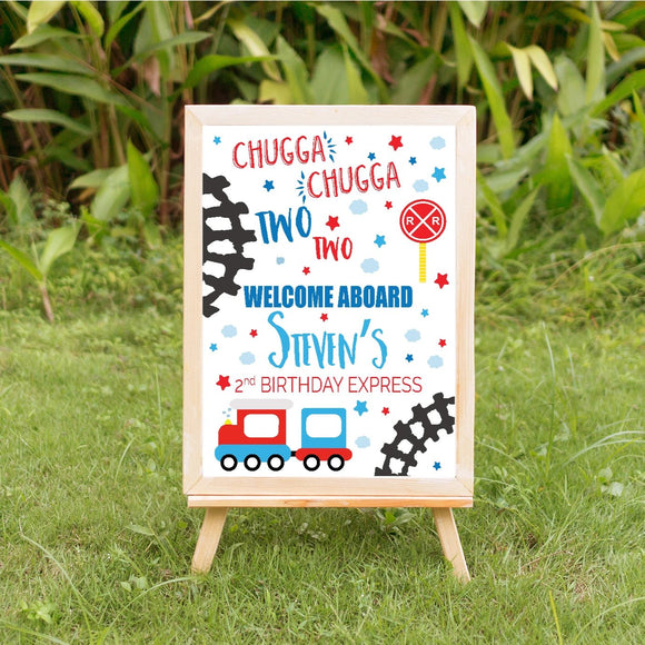 Chugga Chugga Birthday welcome sign