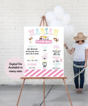 circus carnival pastel party decoration